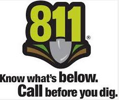 Call 811 before you dig safe digging logo