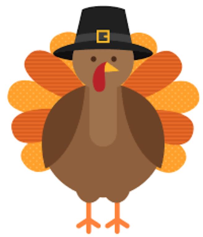 Thanksgiving turkey wearing pilgrim hat