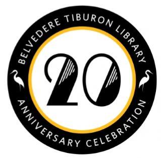 Belvedere Tiburon Library 20th Anniversary Logo
