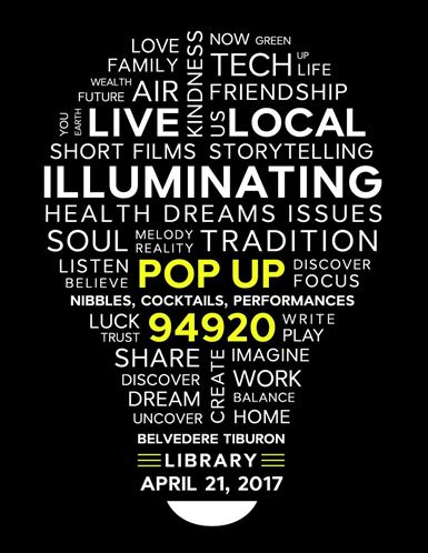 Belvedere Tiburon Library Pop Up 94920 Event Flyer