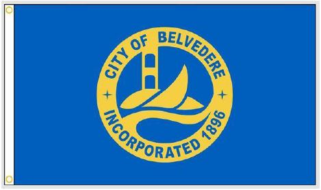 City of Belvedere flag with logo