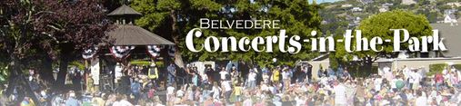 Belvedere concerts in the park banner