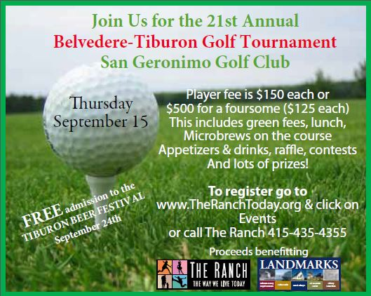 Belvedere Tiburon Golf Tournament Flyer