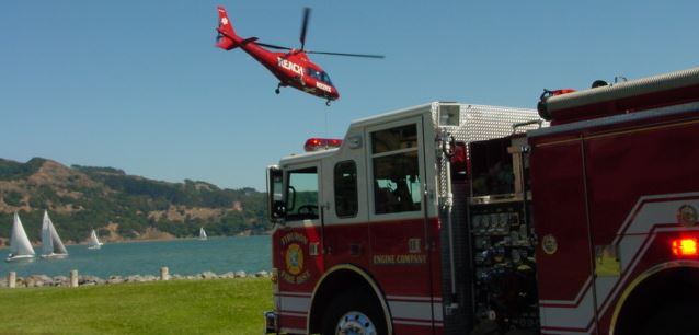 Tiburon Fire Truck and Helicopter