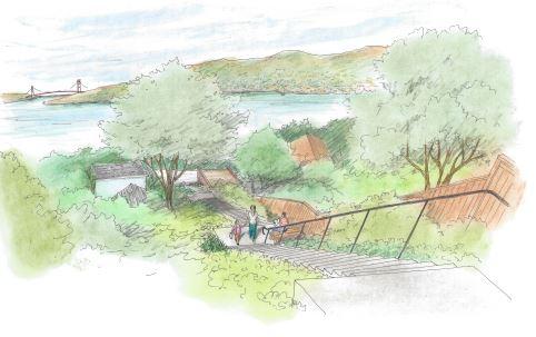 Artist's rendering of Eucalyptus Lane